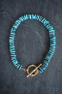 sea and stone jewelry Turquoise Toggle Necklace