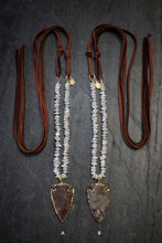 sea and stone jewelry Heshi Pearl, Arrowhead, & Suede Necklace