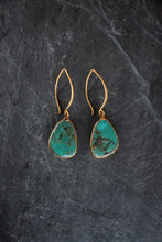 sea and stone jewelry Turquoise Slice Earrings