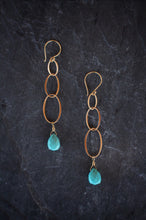 sea and stone jewelry American Turquoise Linked Earrings
