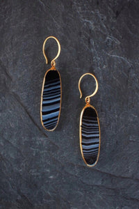 Banded Agate Drop Earrings