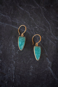sea and stone jewelry Amazonite Dagger Drops