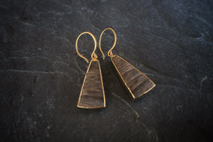 sea and stone jewelry One-of-a-kind Nut Wood Earring