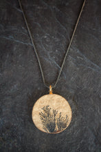 sea and stone jewelry Dendritic Limestone & Blackened Chain Necklace