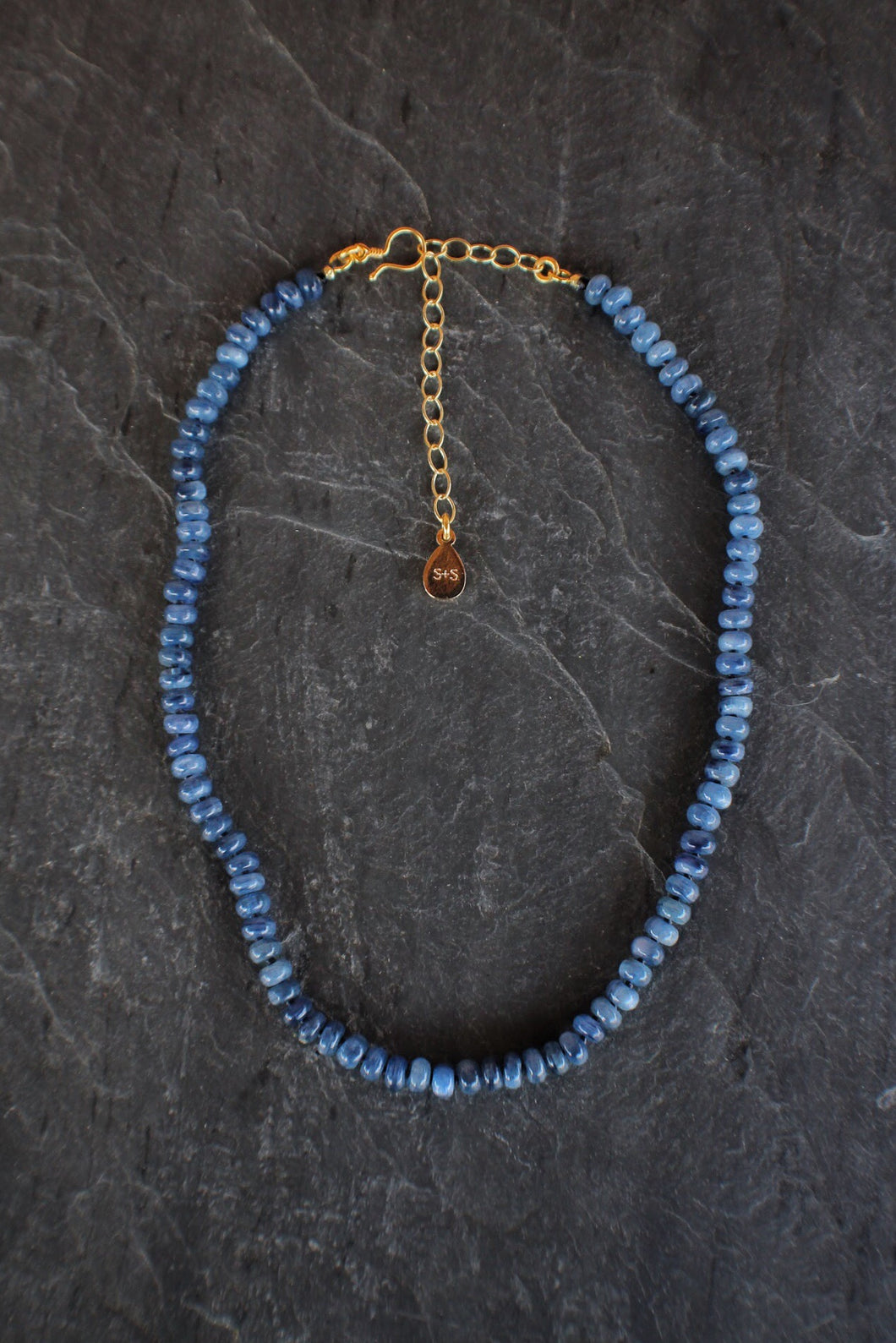 sea and stone jewelry Kyanite Adjustable Necklace