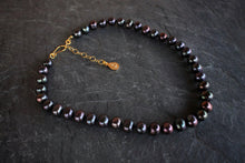 sea and stone jewelry Classic Black Pearl Necklace