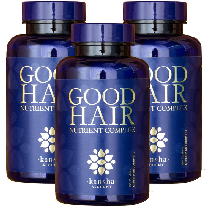 3-pack Good Hair Nutrient Complex - 180 caps, 3 months supply,  45% discount