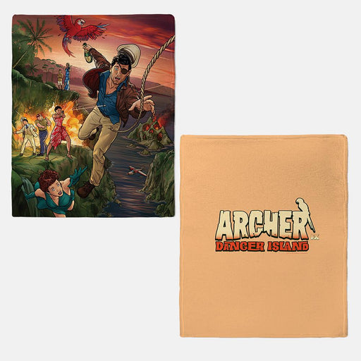 Archer Danger Island Fleece Blanket