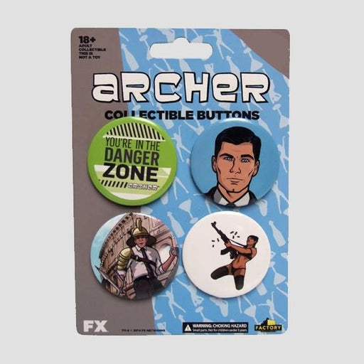 Archer Dangerzone Button Set