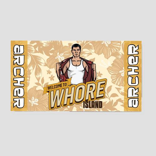 Archer Whore Island Beach Towel