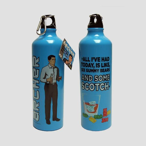 Archer Metal Water Bottle (Scotch & Gummy Bears)