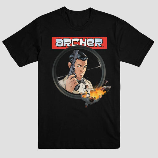 Archer Season 6 Adult Black T-Shirt