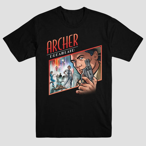 Archer Season 8 Adult Black T-Shirt