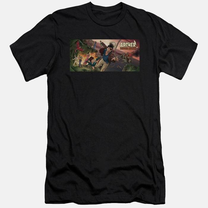 Archer Danger Island Black T-shirt