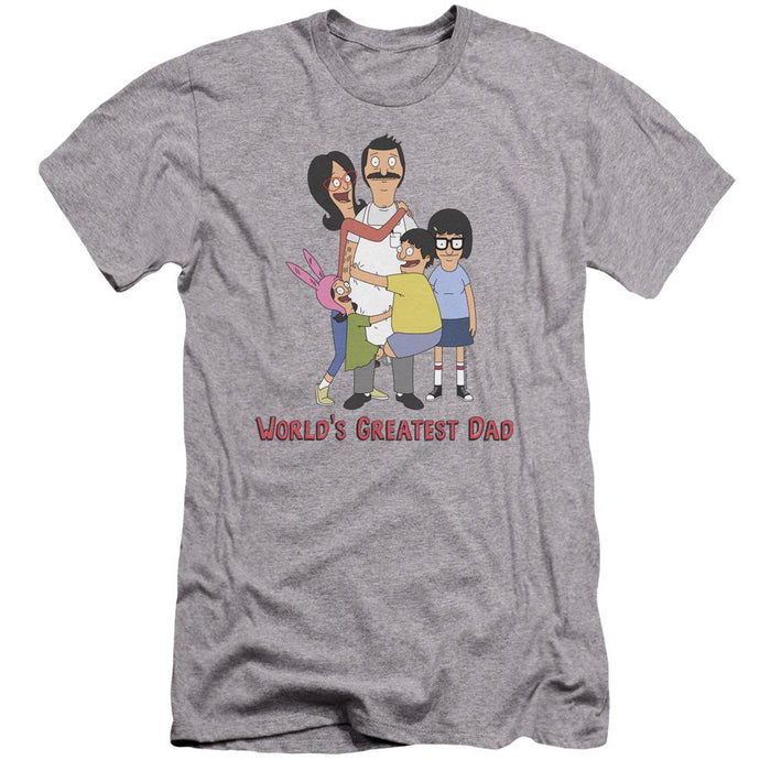 Bob's Burger World's Greatest Dad Grey T-Shirt