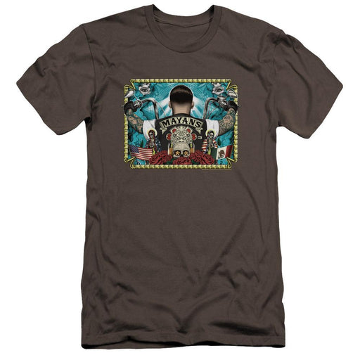 Mayans Horizontal Charcoal T-Shirt