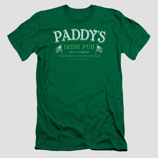 It's Always Sunny in Philadelphia Paddy's Irish Pub Adult Kelly Green T-Shirt