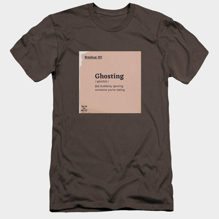 You're the Worst Ghosting Definition Adult Charcoal T-Shirt