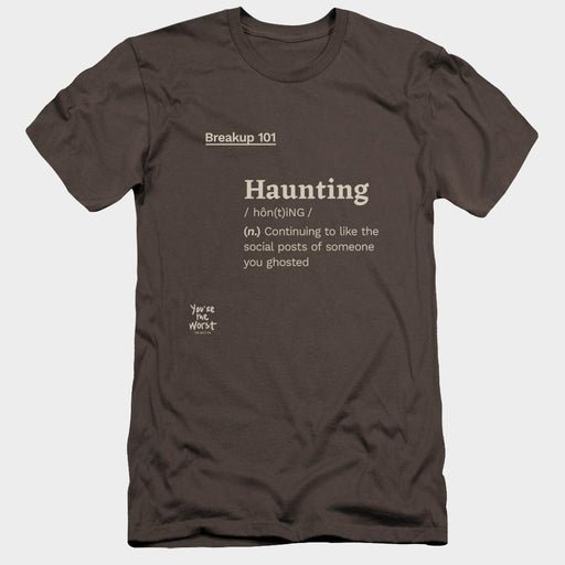 You're the Worst Haunting Definition Adult Charcoal T-Shirt