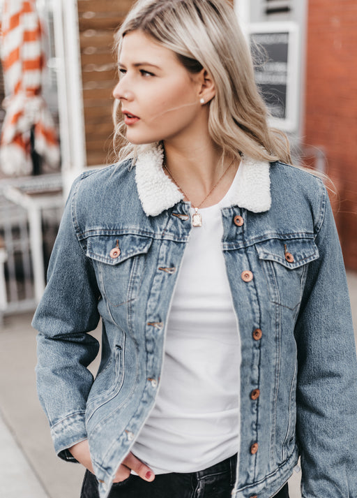 BRIXTON - Broadway Sherpa Denim Jacket