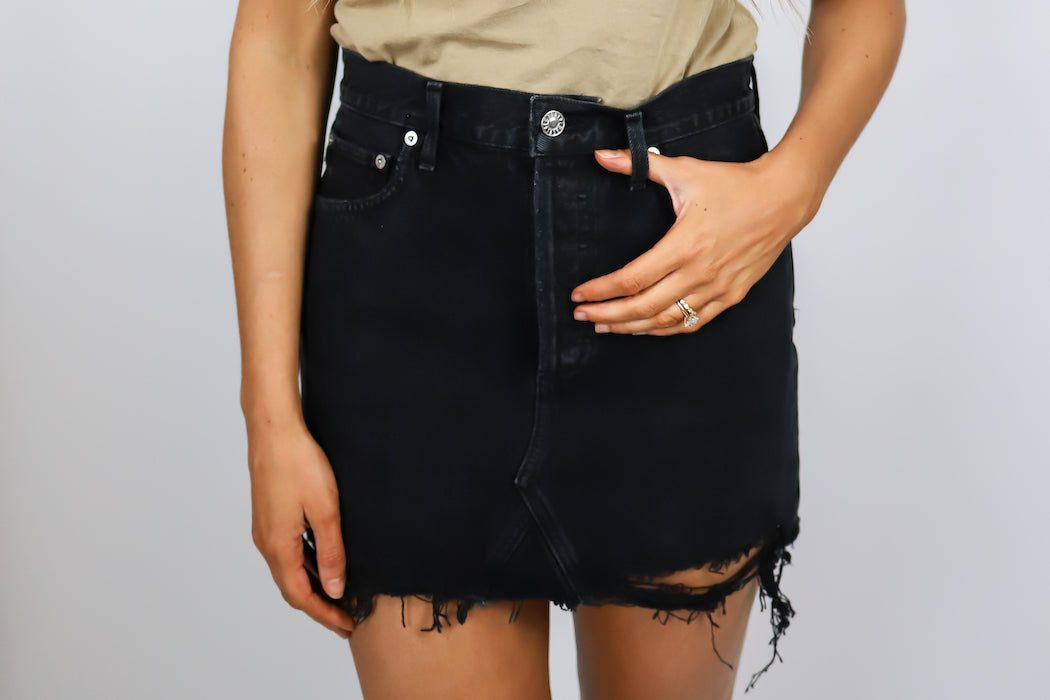 AGOLDE - High Rise Mini Skirt