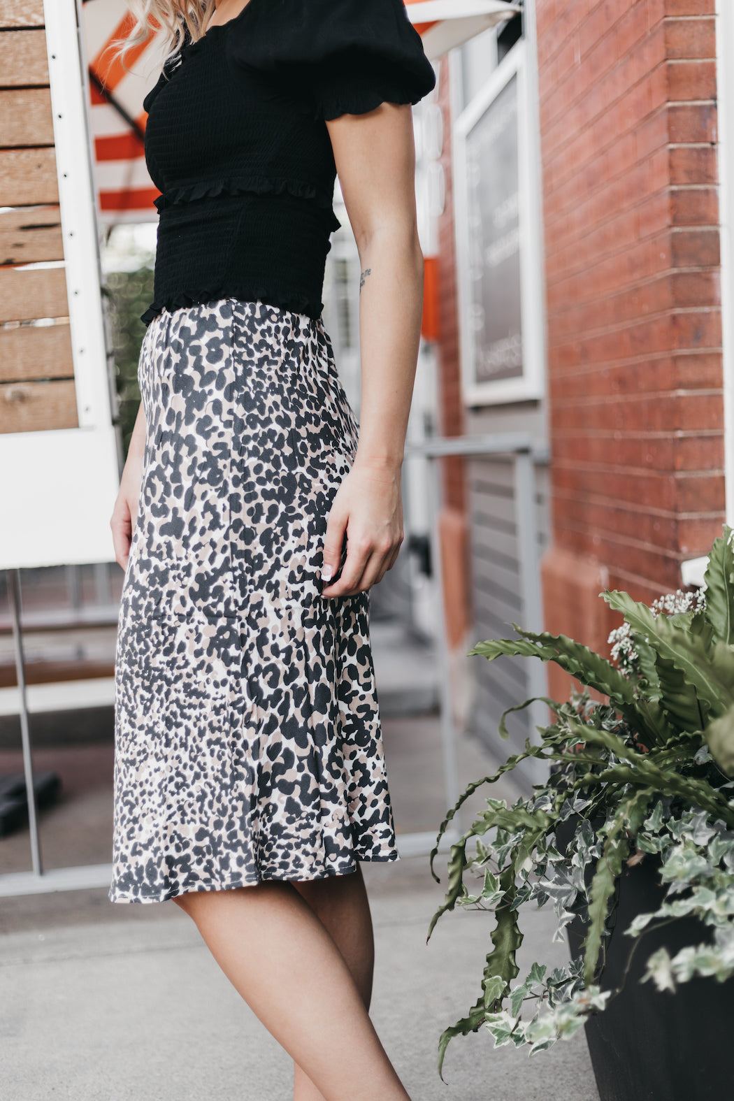 LOVESTITCH - Printed Midi Skirt
