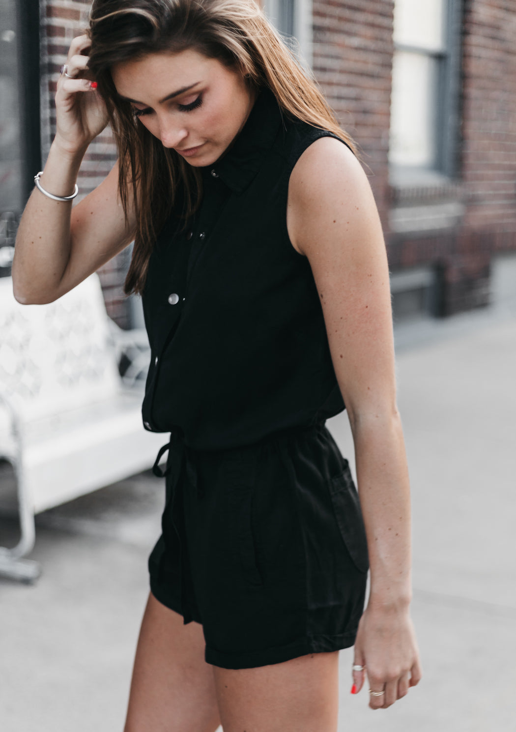 LOVE STITCH - Utility Romper