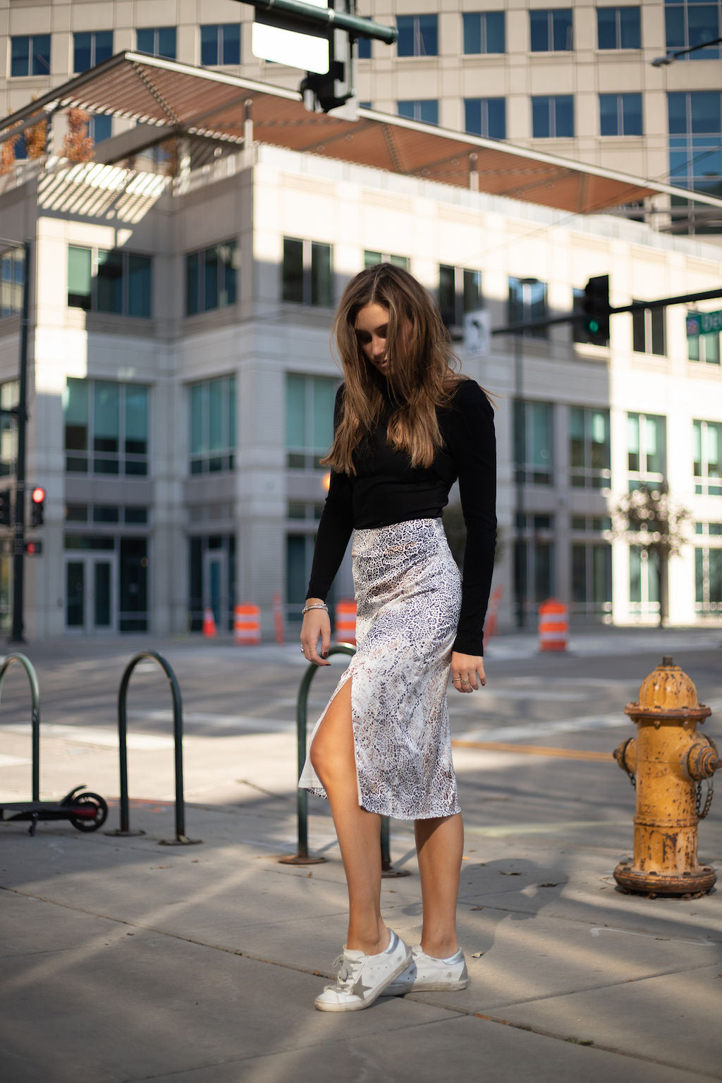 SAGE THE LABEL - Jasmine Front Slit Midi Skirt