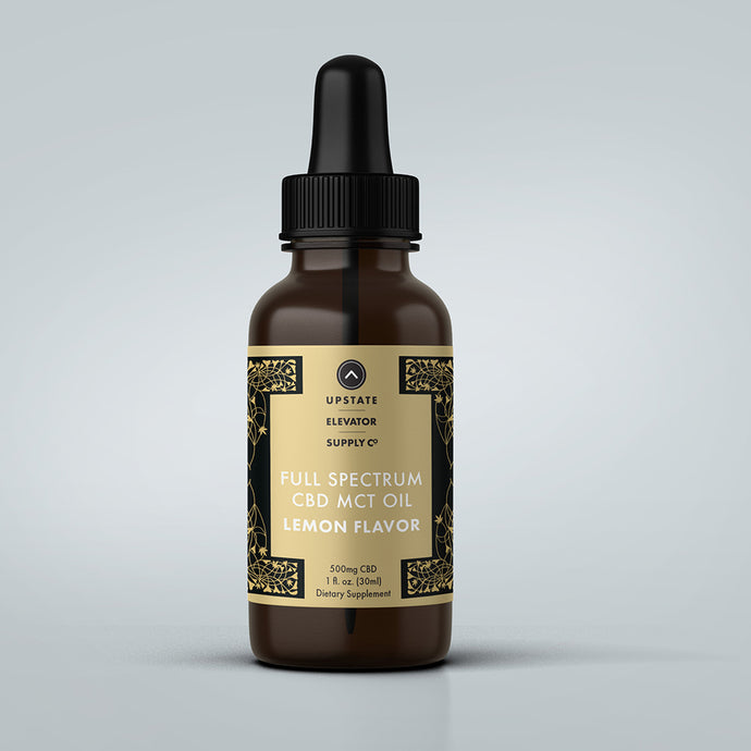 500mg Full Spectrum Lemon CBD MCT Oil