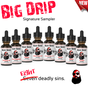 Big Drip Signature Beard Oil Sampler Set | Assorted Oils | Infused - Beard Goonz