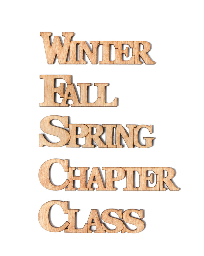 Semester/Chapter/Class Connected Letters