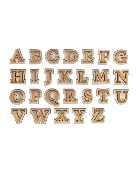 Double Layer Alphabet 1