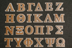 "3"" Double Layer Greek Letter"