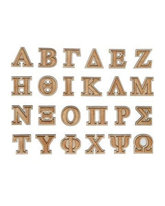 "2"" Double Layer Greek Letter"