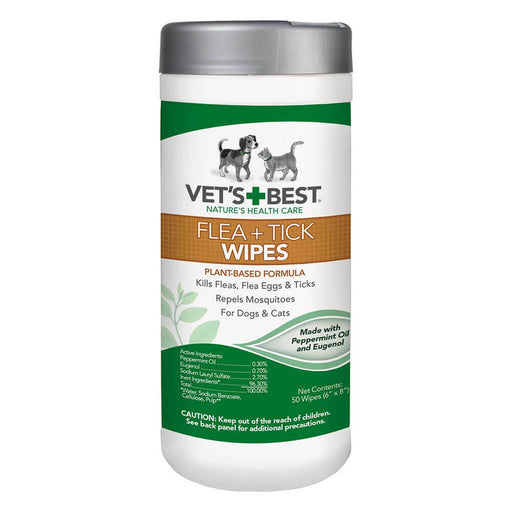 Vet's Best Flea + Tick Wipes 50 ct