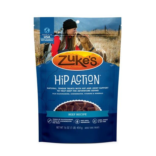 Zukes Hip Action Beef Dog Treats with Glucosamine and Chondroitin