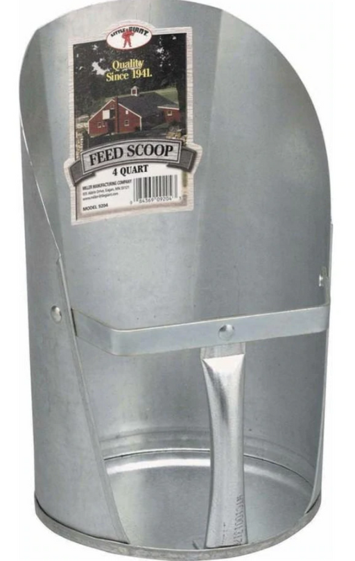 2qt Galvanized Feed Scoop