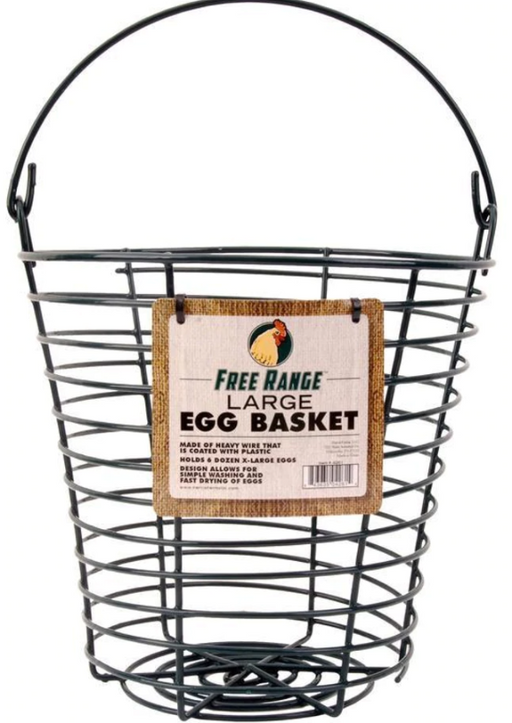 Coated Wire Egg Basket, 10 inch