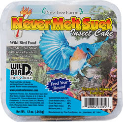 Never Melt Suet Insect Cake 12 oz.