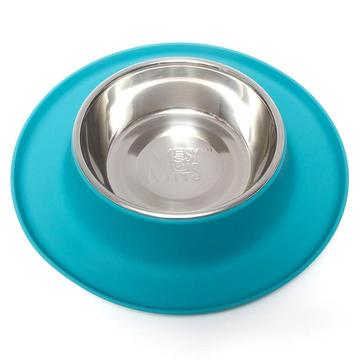 Messy Mutts Single Silicone Feeder with Stainless Bowl, 1.5 cups