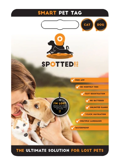 Spotted! Smart Pet Tag - 2 Sizes