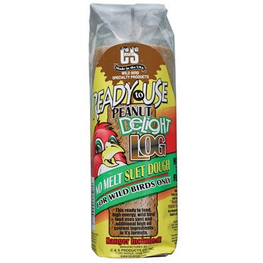 Peanut Butter Delight Log RTU No Melt Suet Dough - 16oz