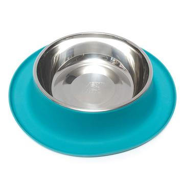 Messy Mutts Single Silicone Feeder with Stainless Bowl, 6 cups