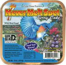 Never Melt Suet Berry Cake 12 oz.