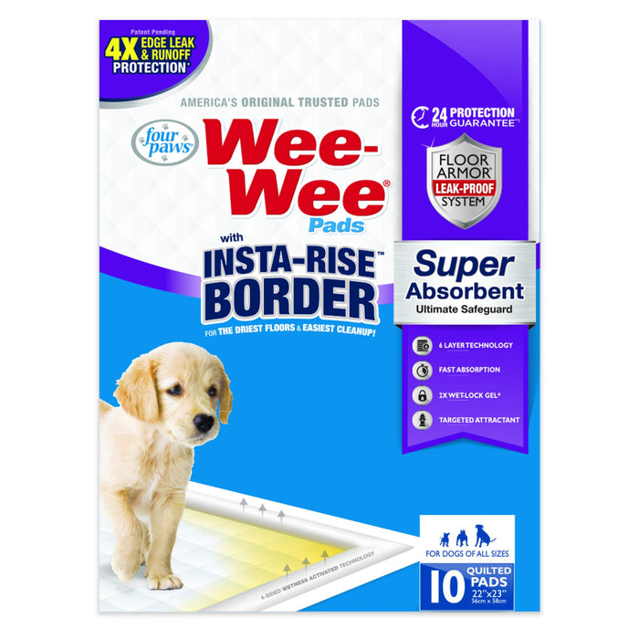 Wee-Wee® Pads with Insta-Rise® Border