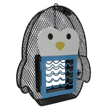 Penguin Suet & Seed Feeder, Blue & White