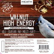 Walnut High Energy Premium Crafted Suet Cake - 11.75 oz.