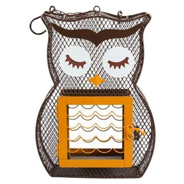 Owl Suet & Seed Feeder, Brown & Orange