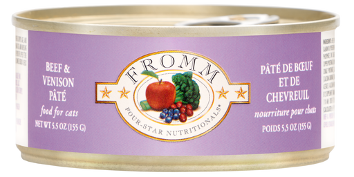 Fromm Four Star Beef & Venison Pate Cat Food Can