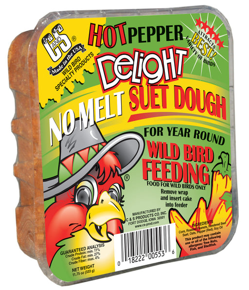 Hot Pepper Delight No Melt Suet Dough, 11oz